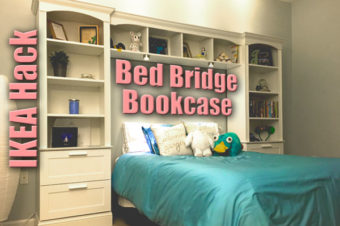 IKEA Hack Bed Bridge Bookcase