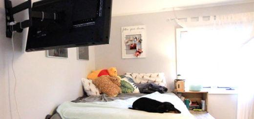 Platform Bed TV