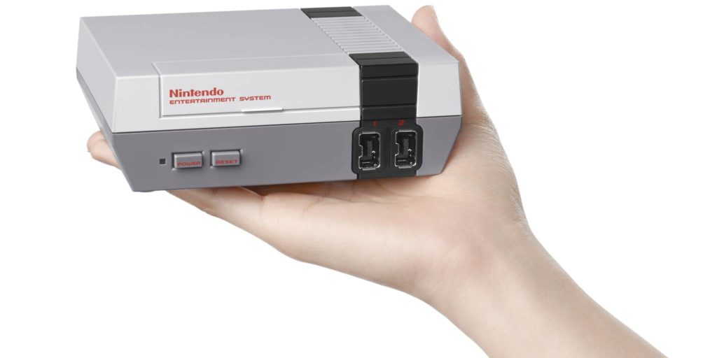 Nintendo Entertainment System fits in the palm of your hand