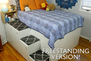 IKEA Hack Platform Bed – Freestanding Version
