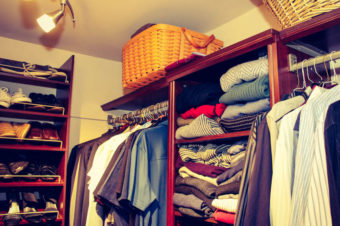 Easy Walk-In Closet Makeover