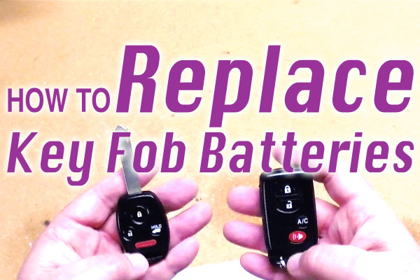 How To Replace Key Fob Batteries Handydadtv