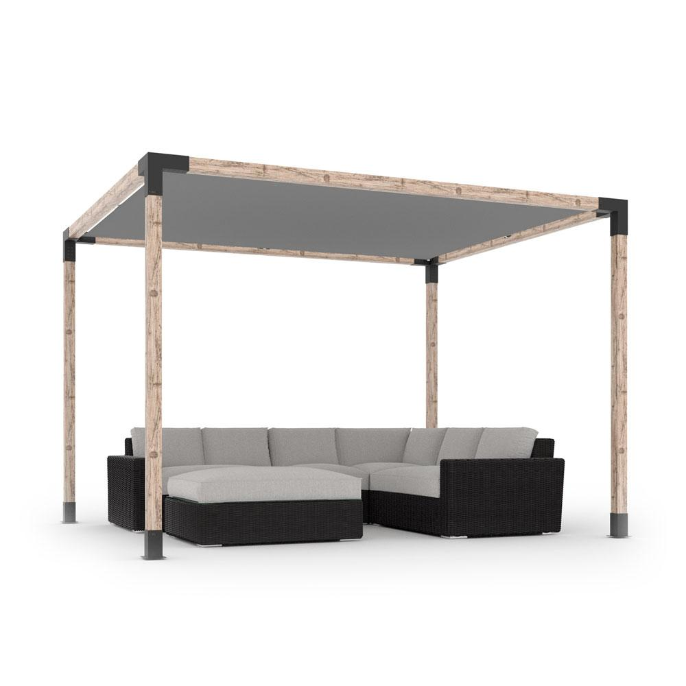 Available in sizes from 8×8-feet to 12×12-feet. Multiple pergolas be  combined to create larger structures. Click here for details. - TOJA Grid Modular Pergola System – HandyDadTV